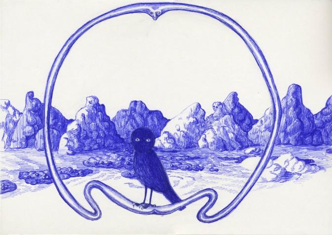 """Aleksandra Waliszewska, """"Góry"""", 2011, długopis"""