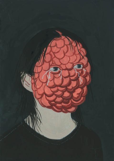 """Aleksandra Waliszewska, """"Bulby"""", 2011, gwasz"""