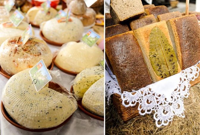 ポーランド産のチーズや、オーガニックの胚芽やライ麦を使ったパン