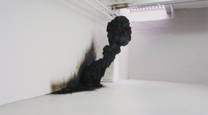 Olaf Brzeski /  Dream – Spontaneous Combustion, 2008  Resin and soot installation