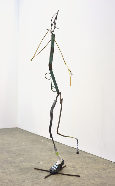 Olaf Brzeski / Fucking Jogging, 2015 bronze, steel, scrap metal, acrylic paint