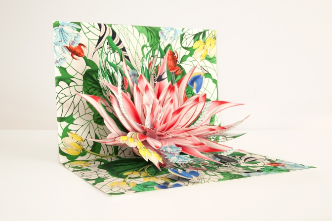 Lotus, pop-up for the book New Botany, 2013, prototype, 42 x 58 x 23 cm