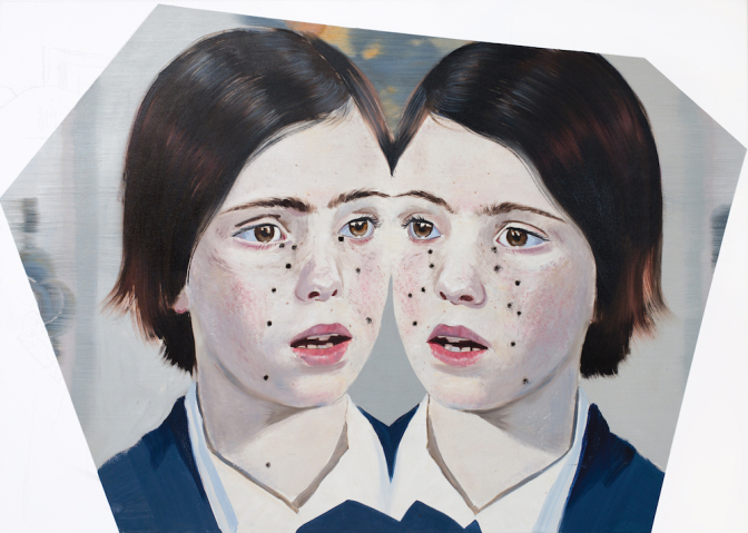 TWINS IV (BLIŹNIAKI IV) / oil on canvas / 100 x 130 cm / 2015