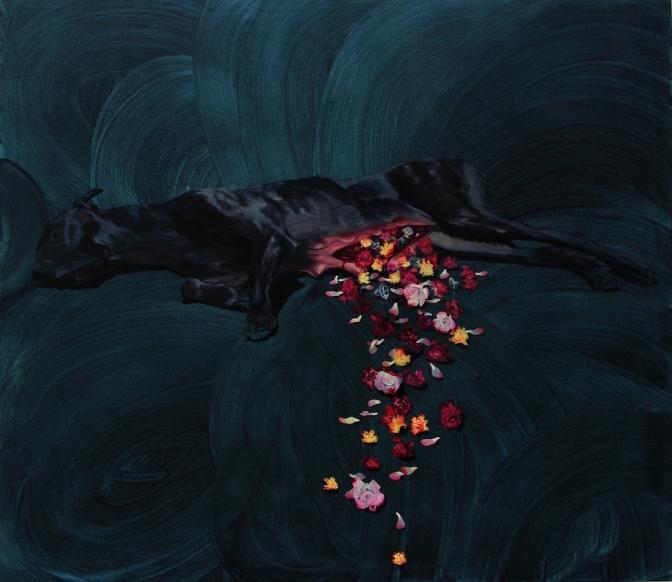 WOUND (RANA) / oil on canvas / 140 x 160 cm / 2011 / Private collection, Austria