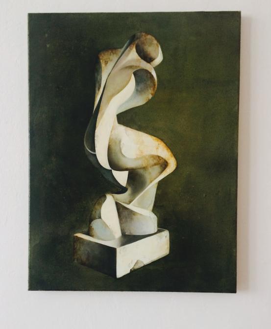 戦前からポーランドの前衛芸術家として活動していたカタジナ・コボロ(Katarzyna Kobro1898 - 1950 )の彫刻Nude(4)をもとに描かれた。作品は1931-33の間に製作されているが、おそらく展示されたのは、1932-34の間のみで、ほかの彫刻作品とともに消失している。