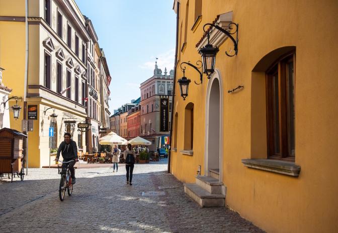 旧市街地へと入るところ。photo by Grazyna Saniuk