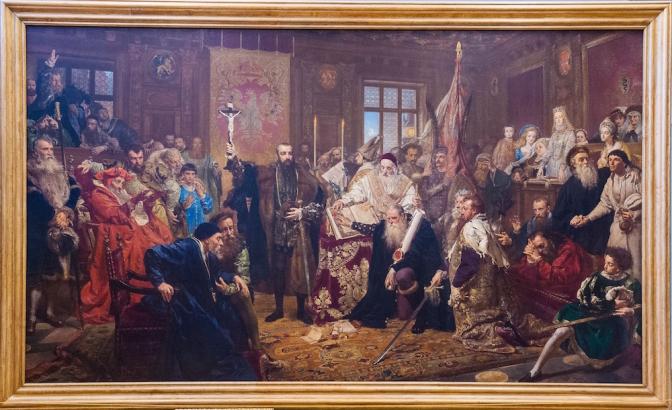 ポーランドの画家ヤン・マテイコによる『ルブリン合同』