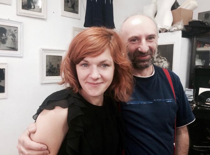 写真家のグジェゴシュと、スタイリストのパトリシア。