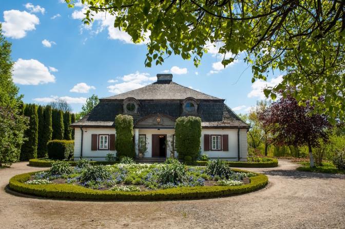 農村エリアの中心にあるアパートメントは、18世紀の木造建築。