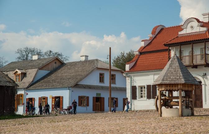 2013年に再建された街のエリア。