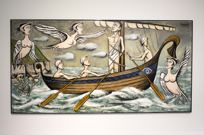 Bernard Buffet / The Odyssey, The Sirens 1993 / oil on canvas