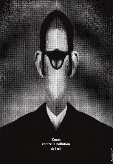 目の汚染に対してズームせよ / ポスター / 1971年/ ポズナン国立美術館蔵