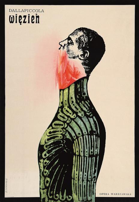 囚人:ルイージ・ダッラピッコラ / ポスター / 1962年/ ポズナン国立美術館蔵