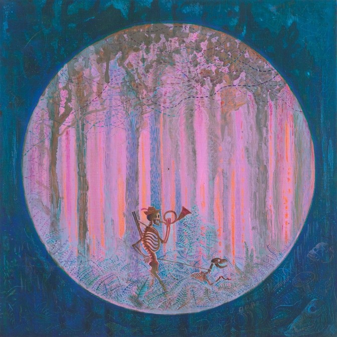 "Paweł Dunal ""Hunter"" 2016 oil, canvas; 30 x 30 cm"
